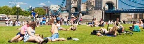 отдых в летний сезон в Лондоне