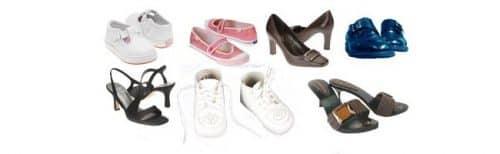 Разнообразная обувь в Англии