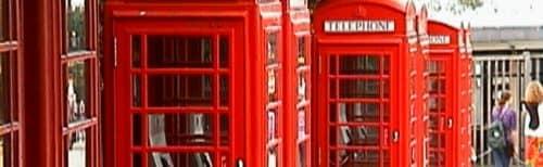 телефонные будки в Англии
