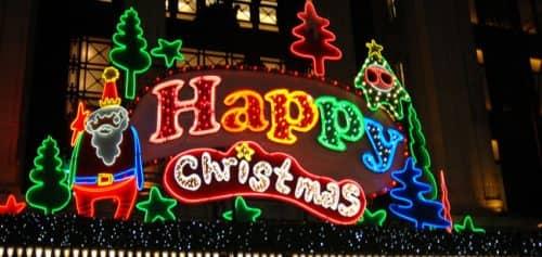 британское украшение города на Рождество
