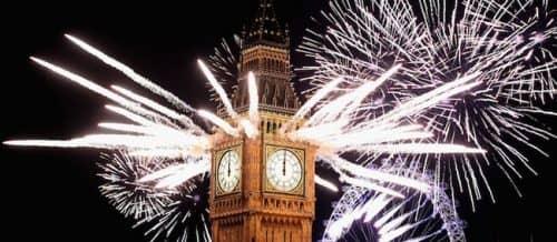 салют на Новый год в Англии