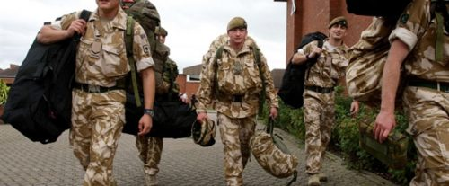 военнослужащие в Англии
