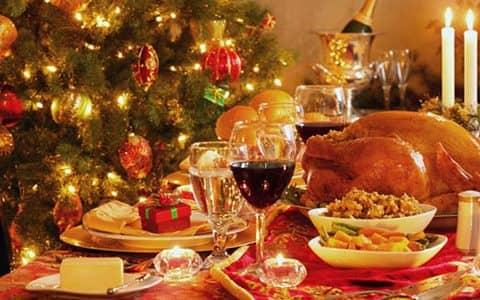 блюда на рождественском столе в Англии
