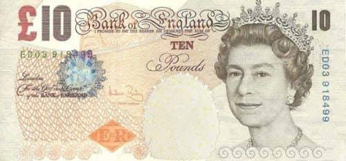 банкнота Англии