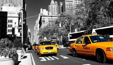 машины такси в Англии