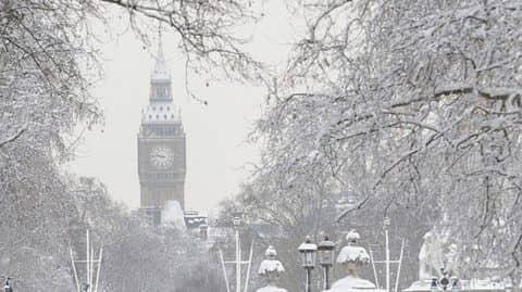 зимняя погода в Лондоне