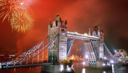 виды в Англии на Новый год