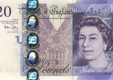денежная единица Англии (фунт)
