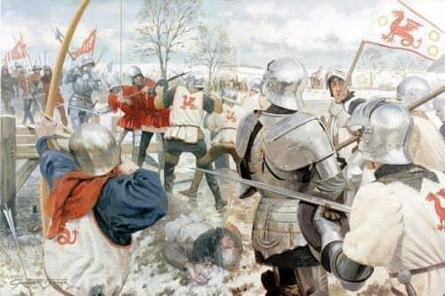 Сражение во времена войны Алой и Белой роз