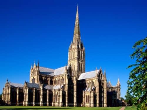 Собор в Солсбери, Англия, самый высокий шпиль